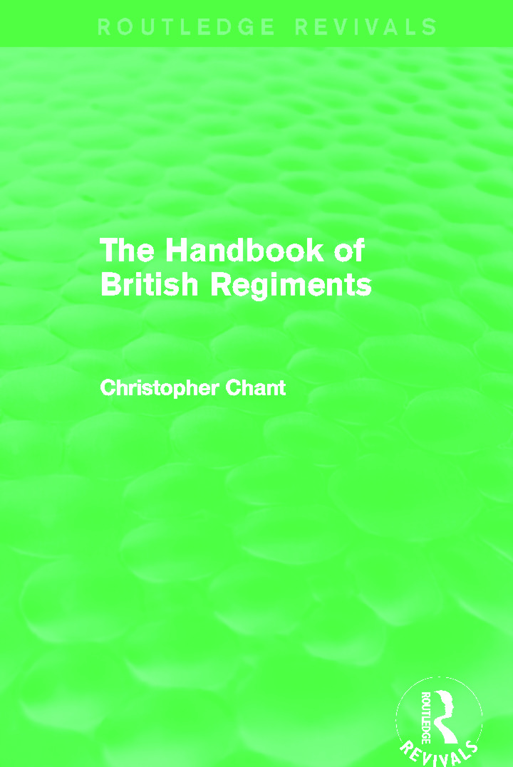 Handbook of British Regiments (Routledge Revivals) book cover