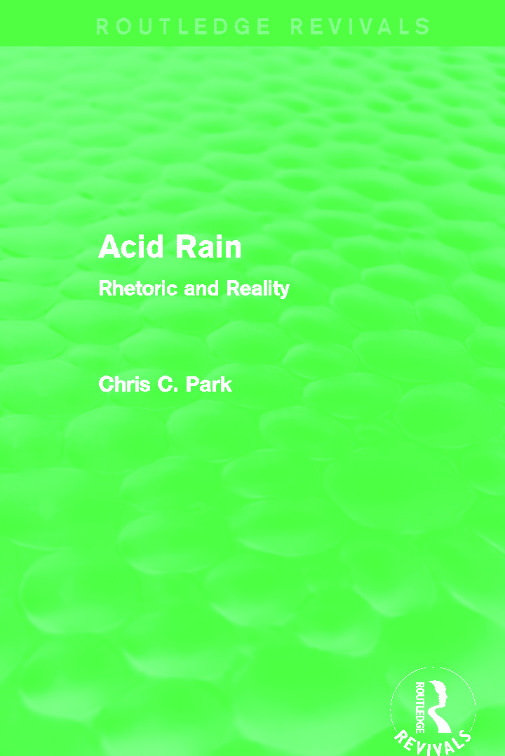Acid Rain (Routledge Revivals): Rhetoric and Reality book cover