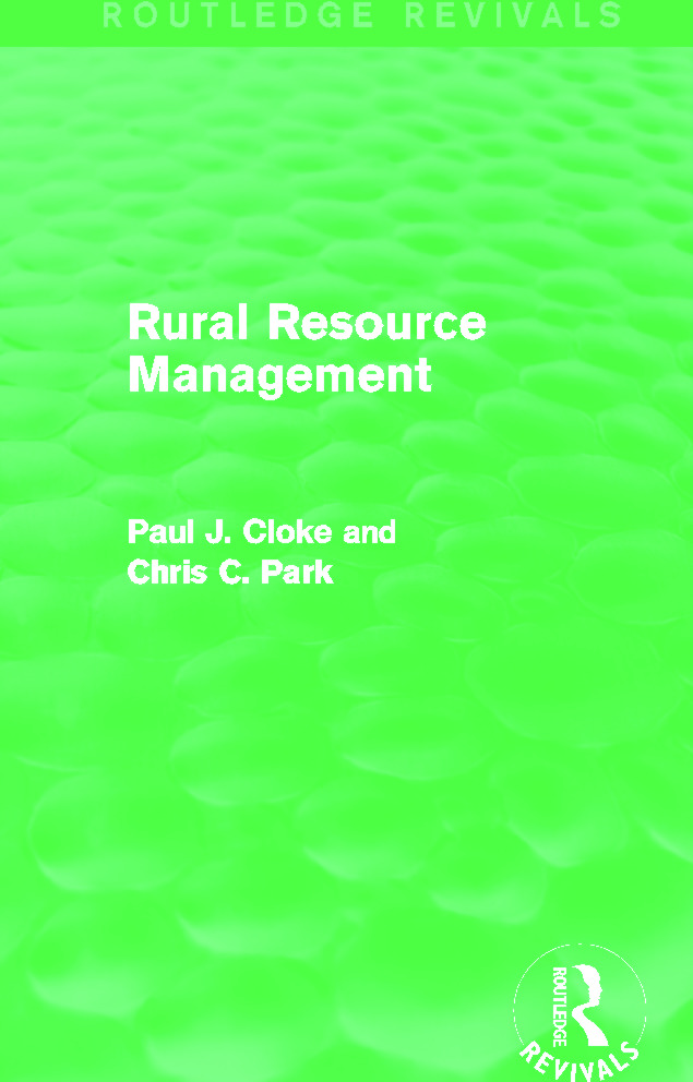 Rural Resource Management (Routledge Revivals): 1st Edition (Paperback) book cover