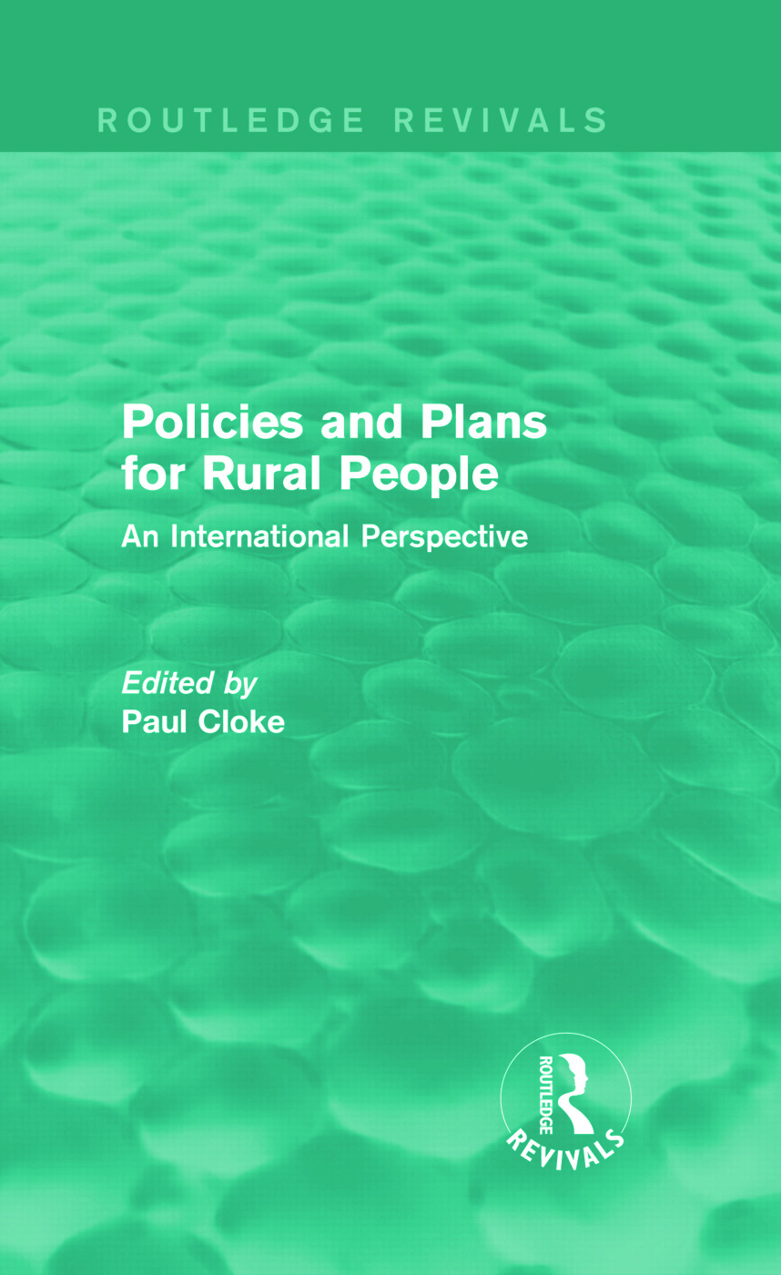 Policies and Plans for Rural People (Routledge Revivals): An International Perspective (Hardback) book cover