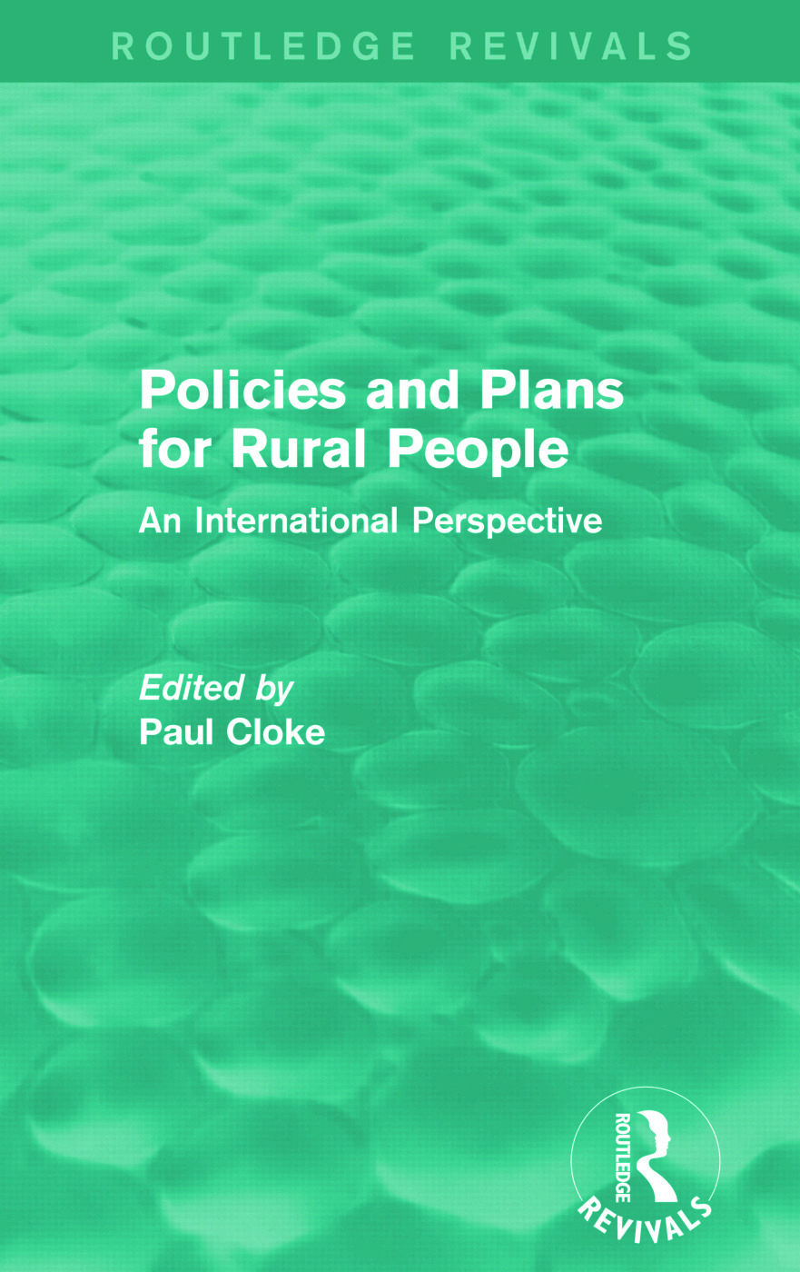 Policies and Plans for Rural People (Routledge Revivals): An International Perspective, 1st Edition (Paperback) book cover