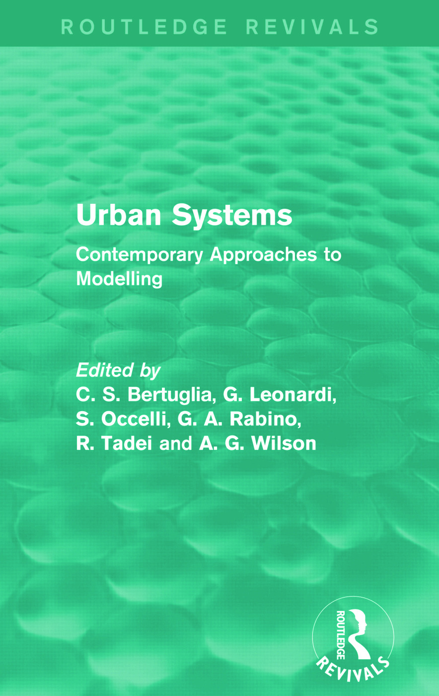 Urban Systems (Routledge Revivals): Contemporary Approaches to Modelling, 1st Edition (Paperback) book cover