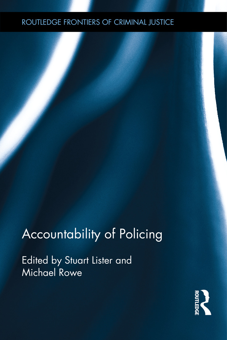 Accountability of Policing: 1st Edition (Hardback) book cover