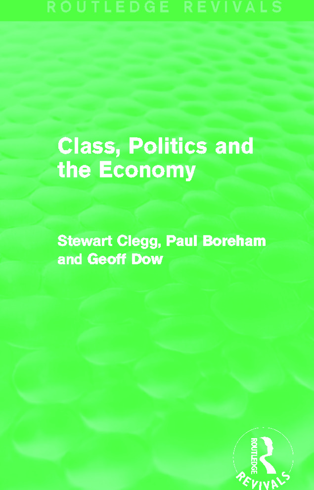 Class, Politics and the Economy (Routledge Revivals): 1st Edition (Paperback) book cover