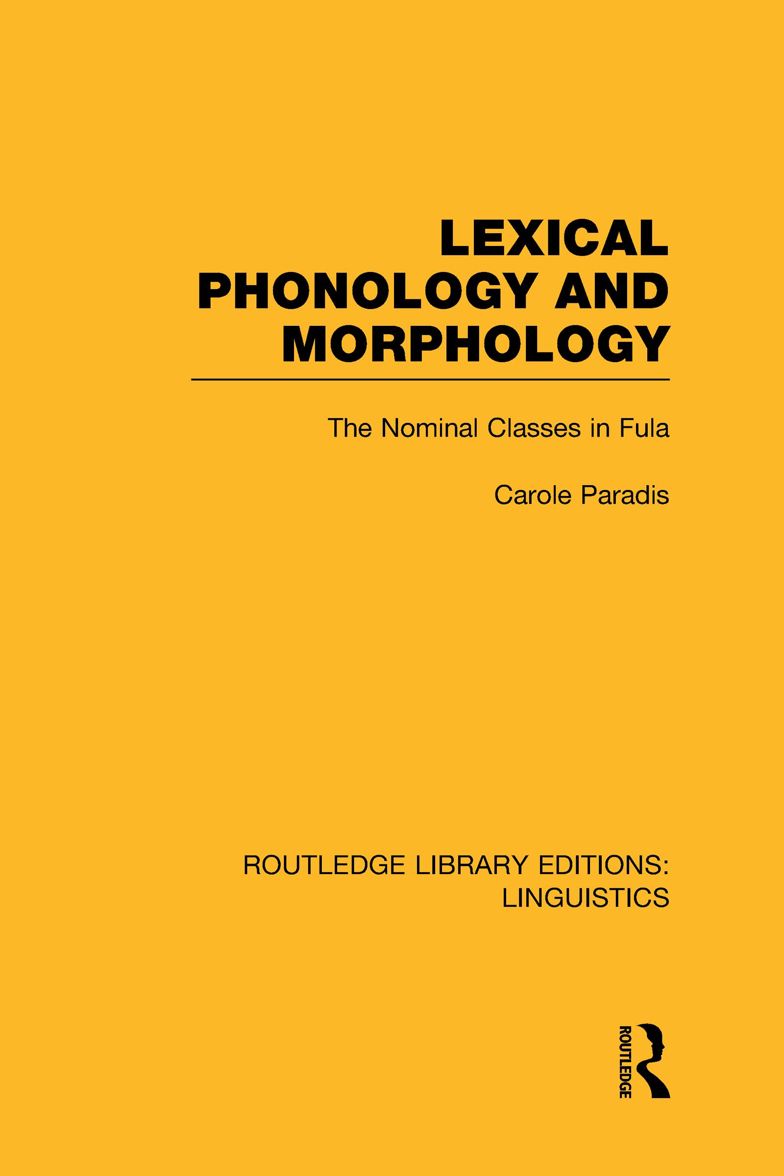 Lexical Phonology and Morphology (RLE Linguistics A: General Linguistics): 1st Edition (Hardback) book cover