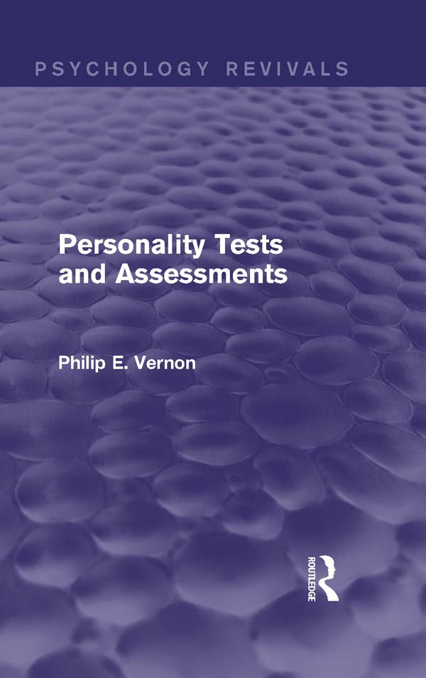 Personality Tests and Assessments: 1st Edition (Paperback) book cover