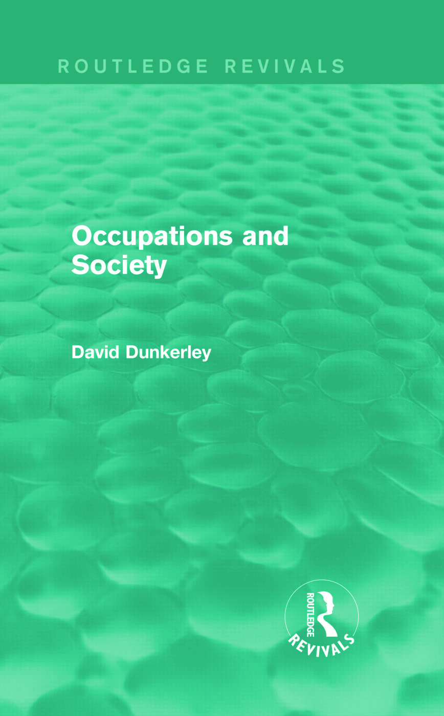 Occupations and Society (Routledge Revivals) (Hardback) book cover