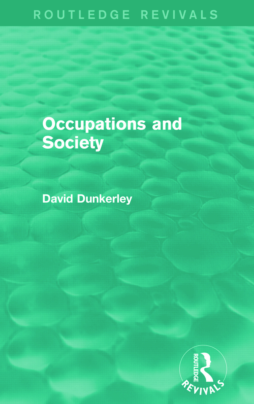 Occupations and Society (Routledge Revivals): 1st Edition (Paperback) book cover
