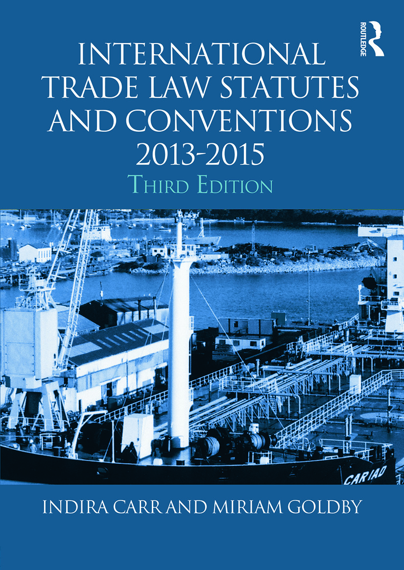 International Trade Law Statutes and Conventions 2013-2015 book cover