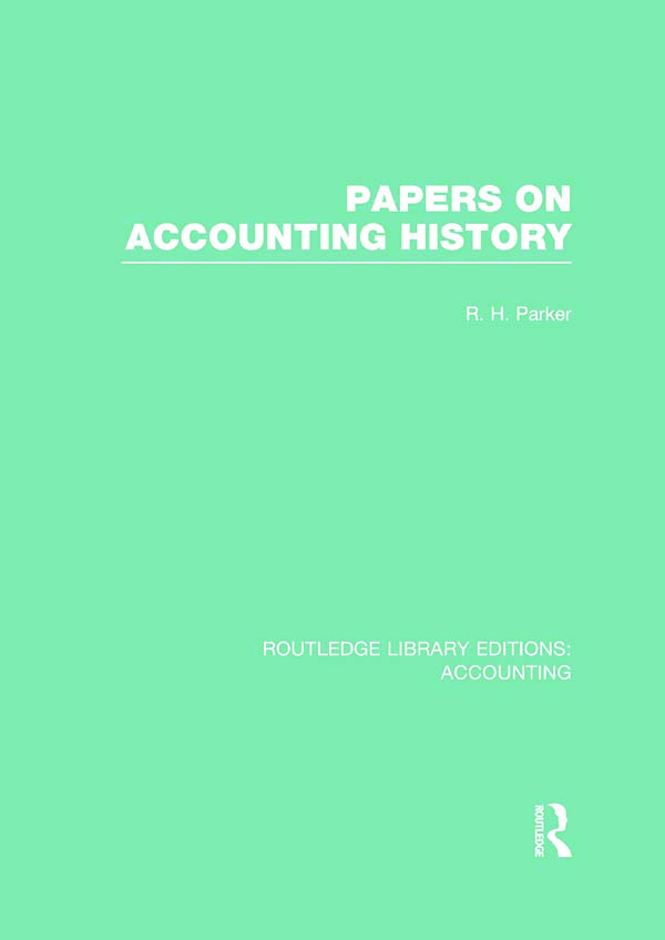 Papers on Accounting History (RLE Accounting) (Hardback) book cover
