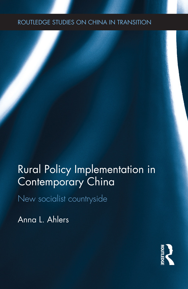 Rural Policy Implementation in Contemporary China: New Socialist Countryside book cover