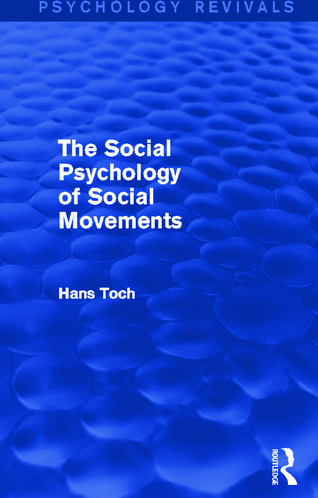 The Social Psychology of Social Movements: 1st Edition (Paperback) book cover