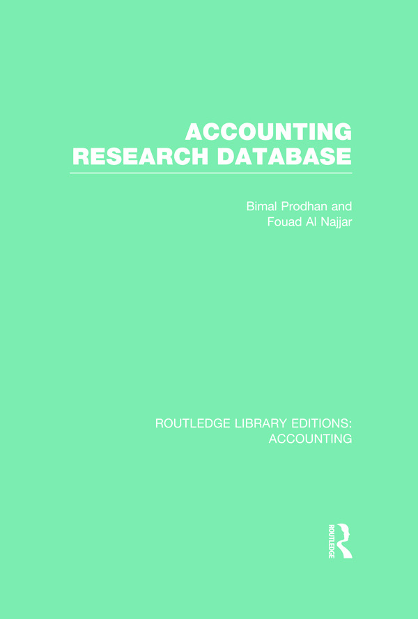 Accounting Research Database (RLE Accounting): 1st Edition (Hardback) book cover