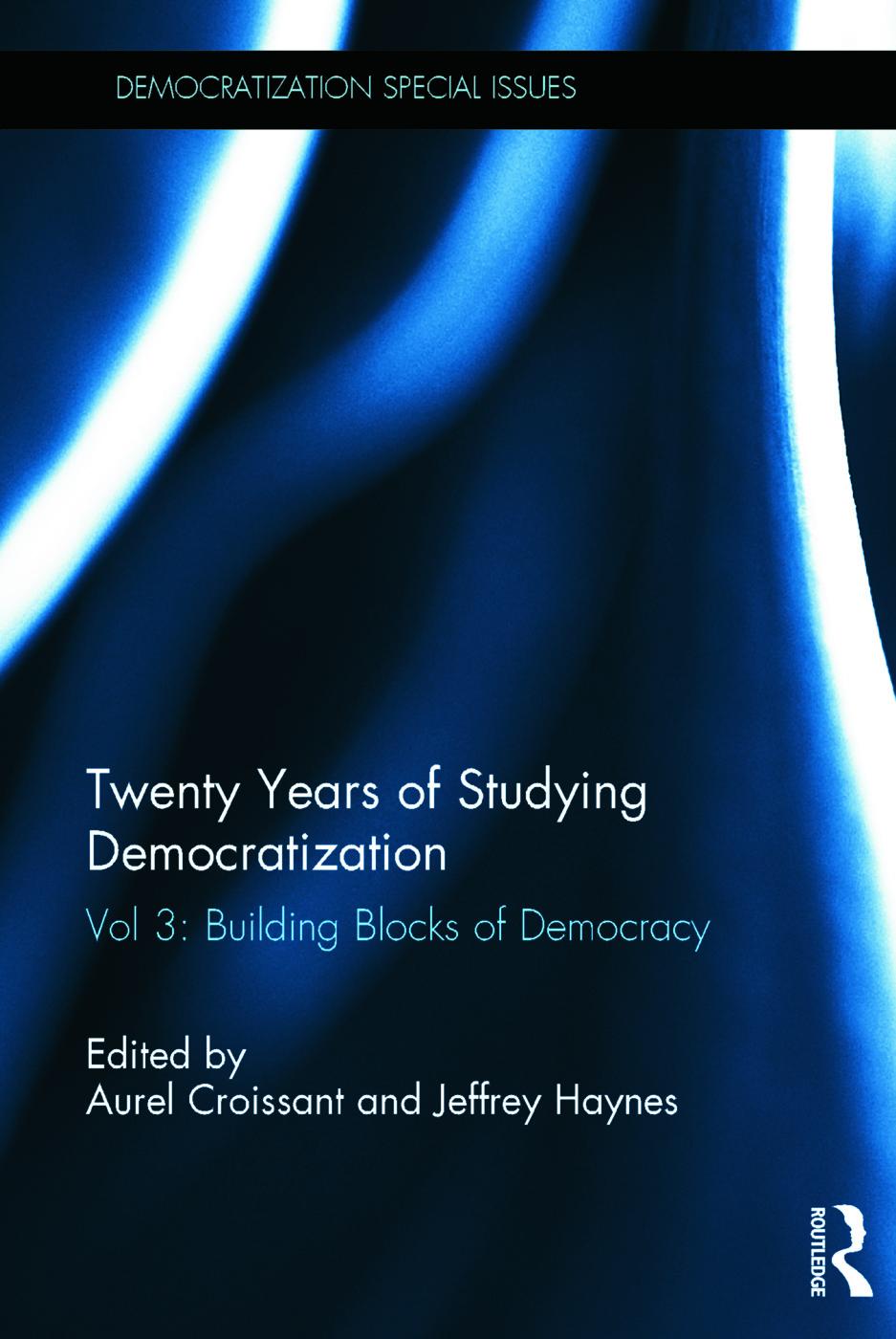 Twenty Years of Studying Democratization: Vol 3: Building Blocks of Democracy book cover