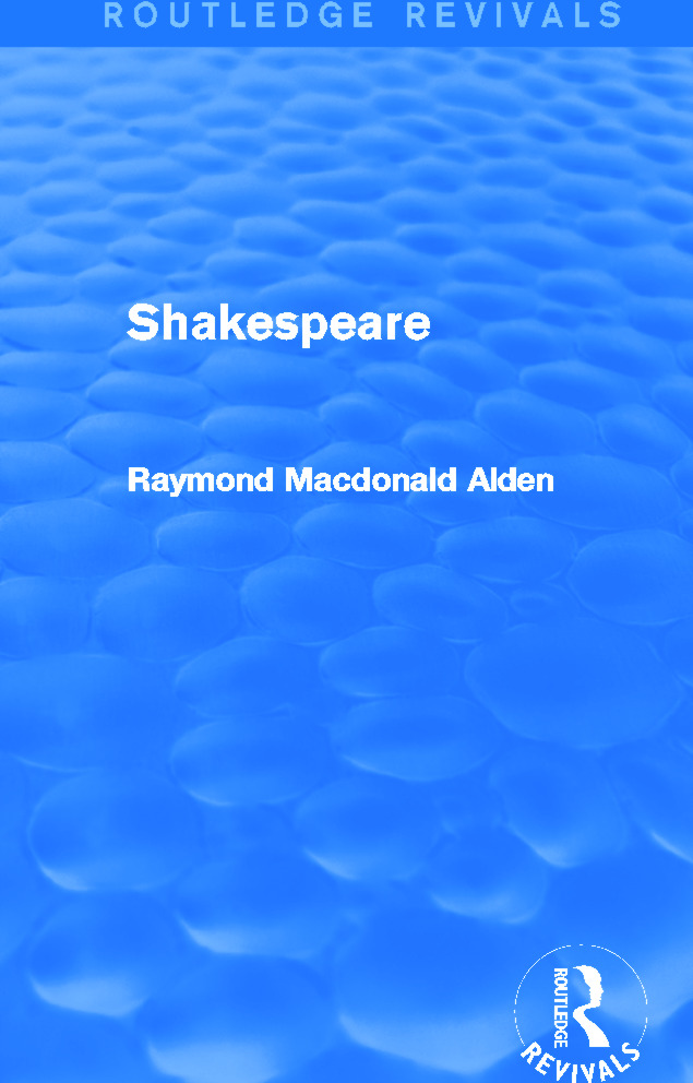 Shakespeare (Routledge Revivals): 1st Edition (Paperback) book cover