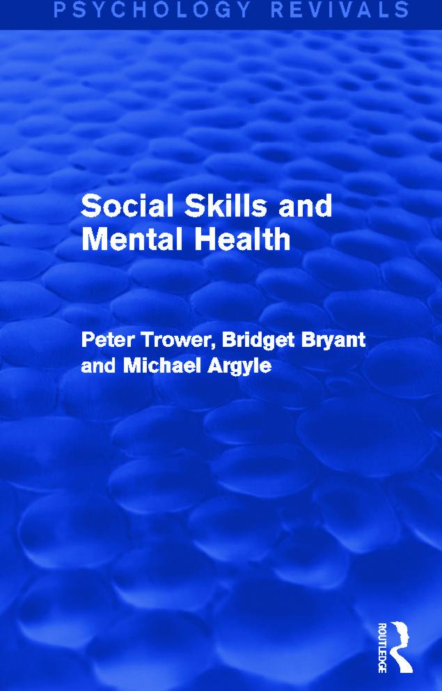 Social Skills and Mental Health (Psychology Revivals) (Hardback) book cover