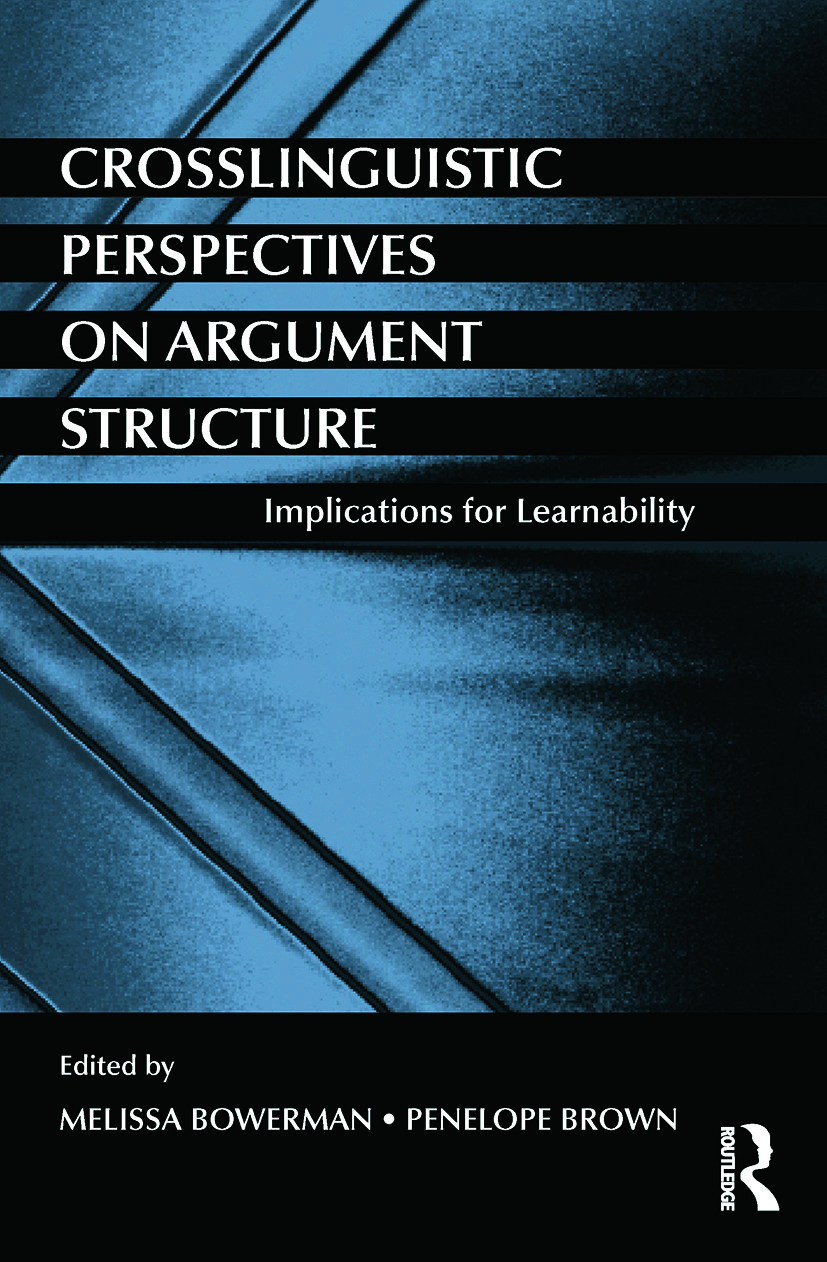 Crosslinguistic Perspectives on Argument Structure: Implications for Learnability (Paperback) book cover
