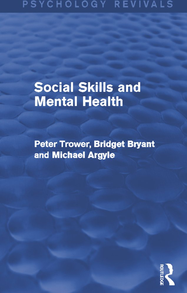 Social Skills and Mental Health: 1st Edition (Paperback) book cover