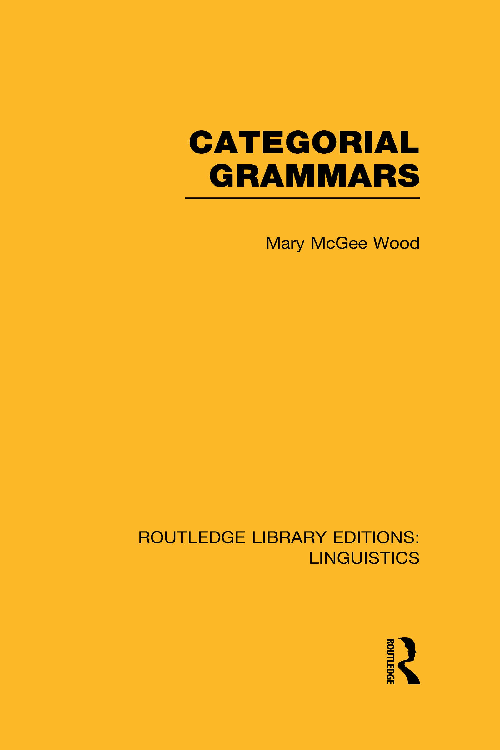 Categorial Grammars (RLE Linguistics B: Grammar) (Hardback) book cover