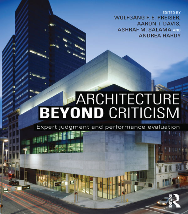 Architecture Beyond Criticism: Expert Judgment and Performance Evaluation book cover