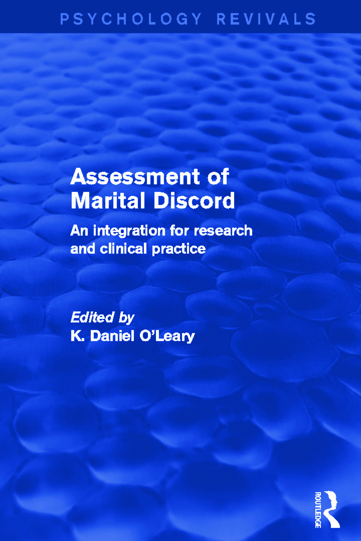 Assessment of Marital Discord: An Integration for Research and Clinical Practice book cover