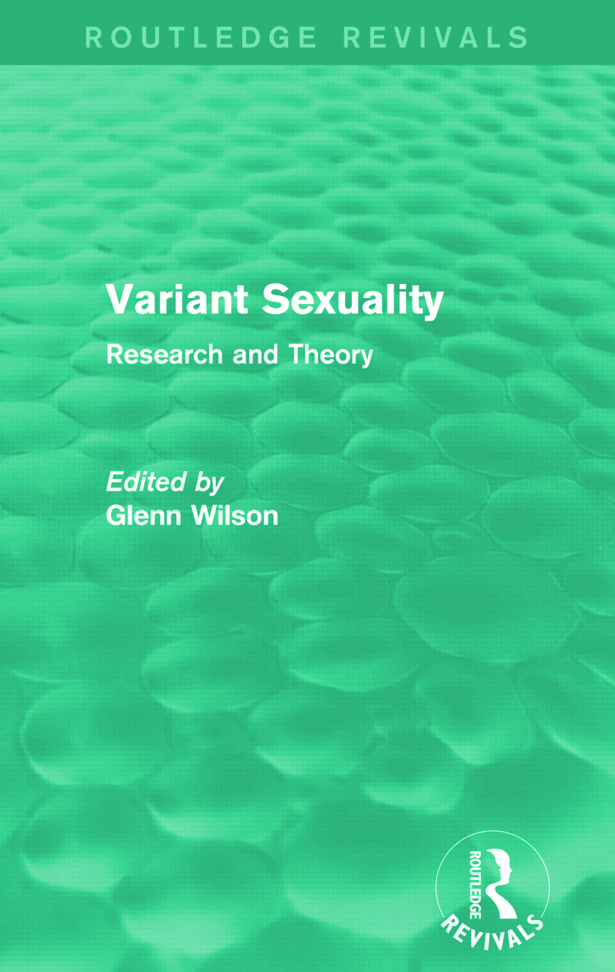 Variant Sexuality (Routledge Revivals): Research and Theory, 1st Edition (Paperback) book cover