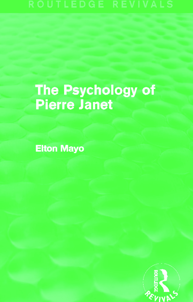 The Psychology of Pierre Janet (Routledge Revivals) (e-Book) book cover