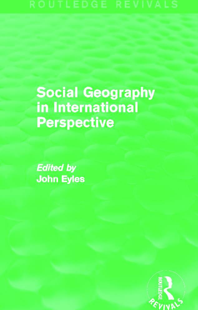 Social Geography (Routledge Revivals): An International Perspective book cover