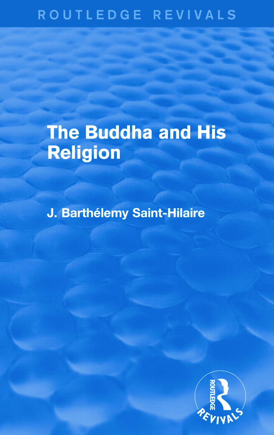 The Buddha and His Religion (Routledge Revivals): 1st Edition (Paperback) book cover