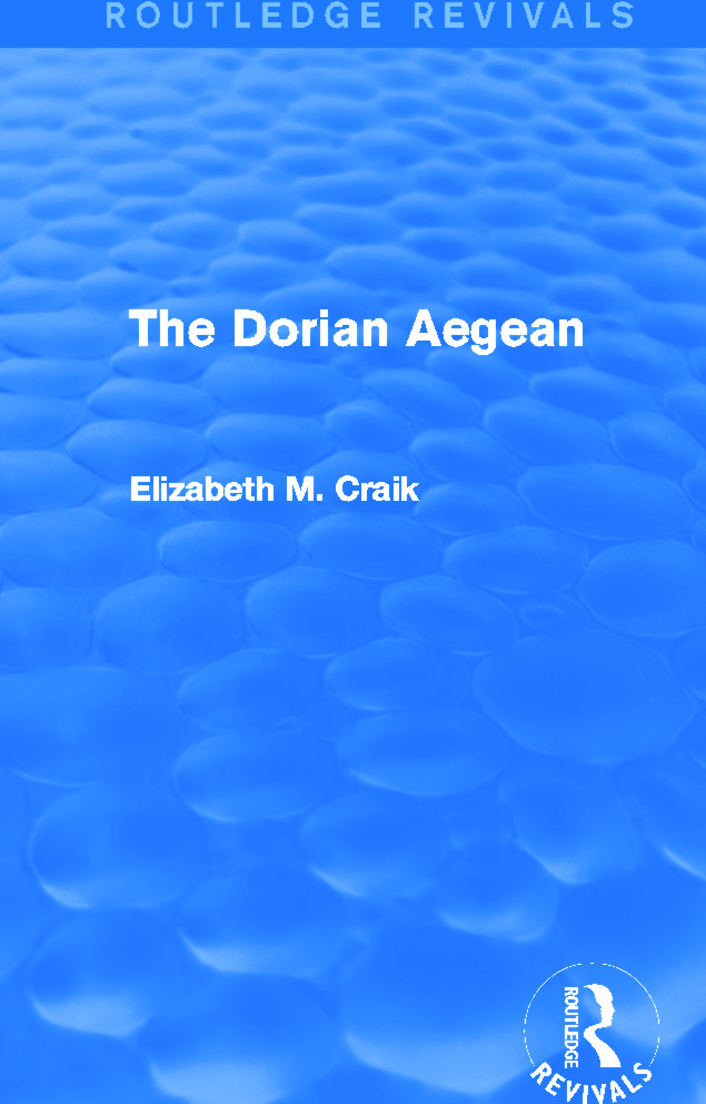 The Dorian Aegean (Routledge Revivals): 1st Edition (Paperback) book cover