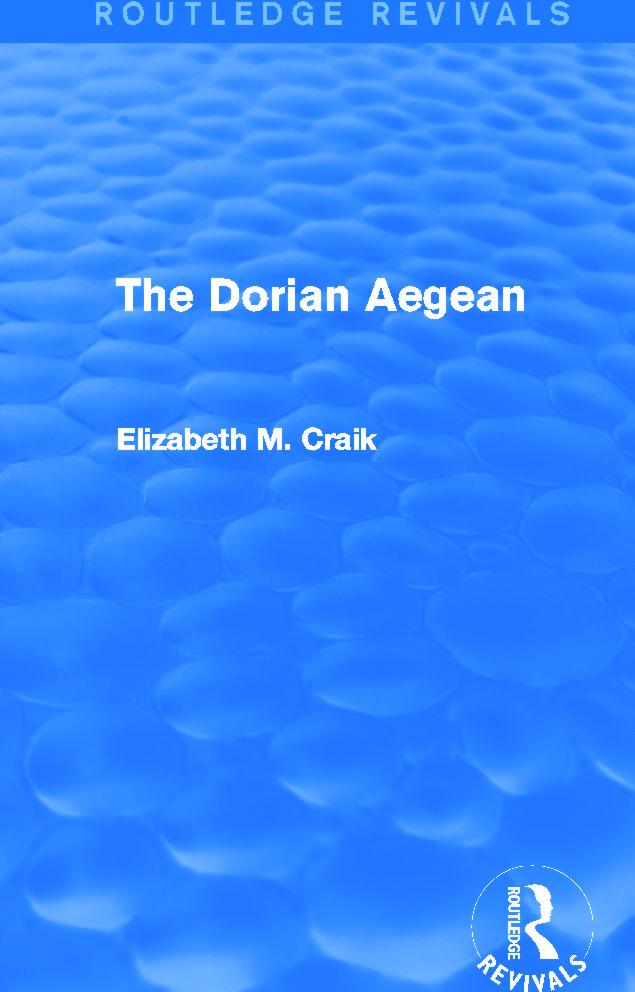 The Dorian Aegean (Routledge Revivals)
