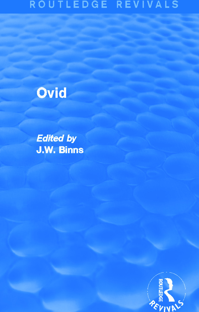 Ovid (Routledge Revivals): 1st Edition (e-Book) book cover