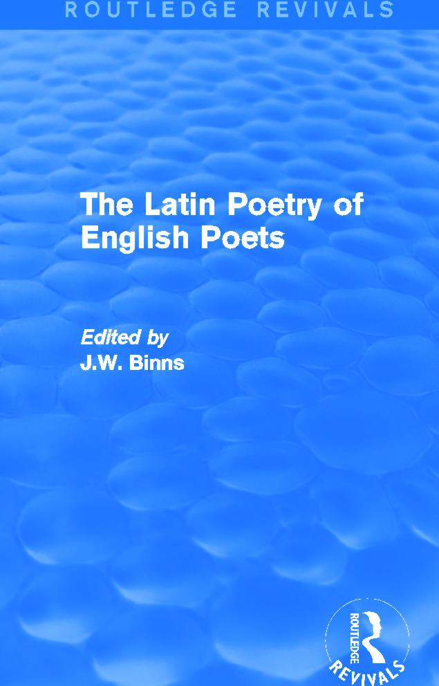 The Latin Poetry of English Poets (Routledge Revivals): 1st Edition (Hardback) book cover