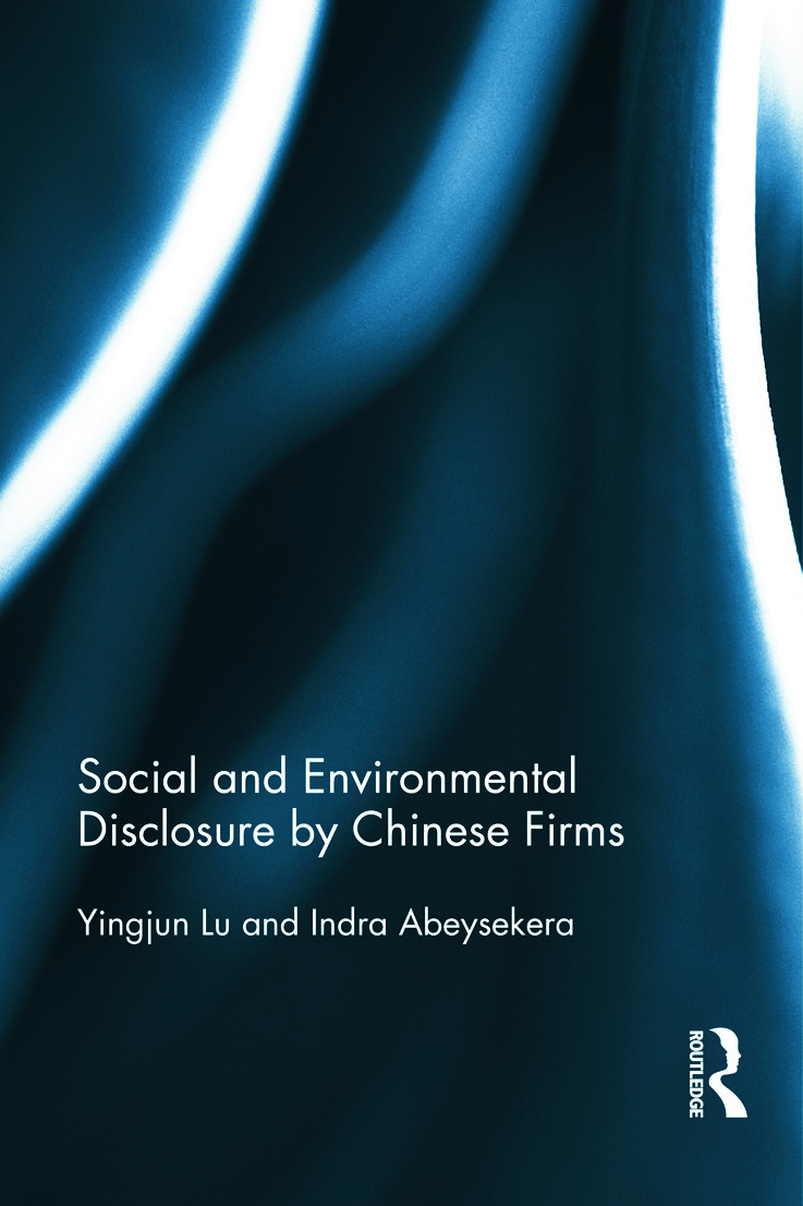 Social and Environmental Disclosure by Chinese Firms (Hardback) book cover