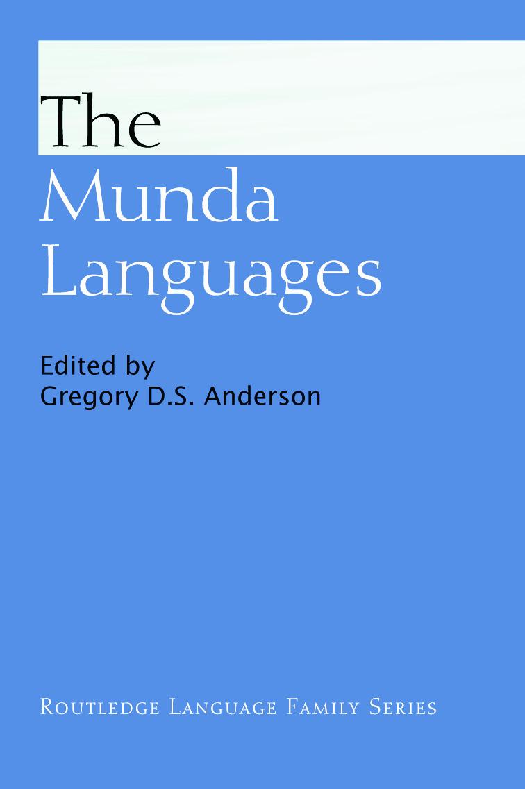 The Munda Languages (Paperback) book cover