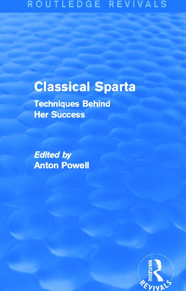 Classical Sparta (Routledge Revivals)