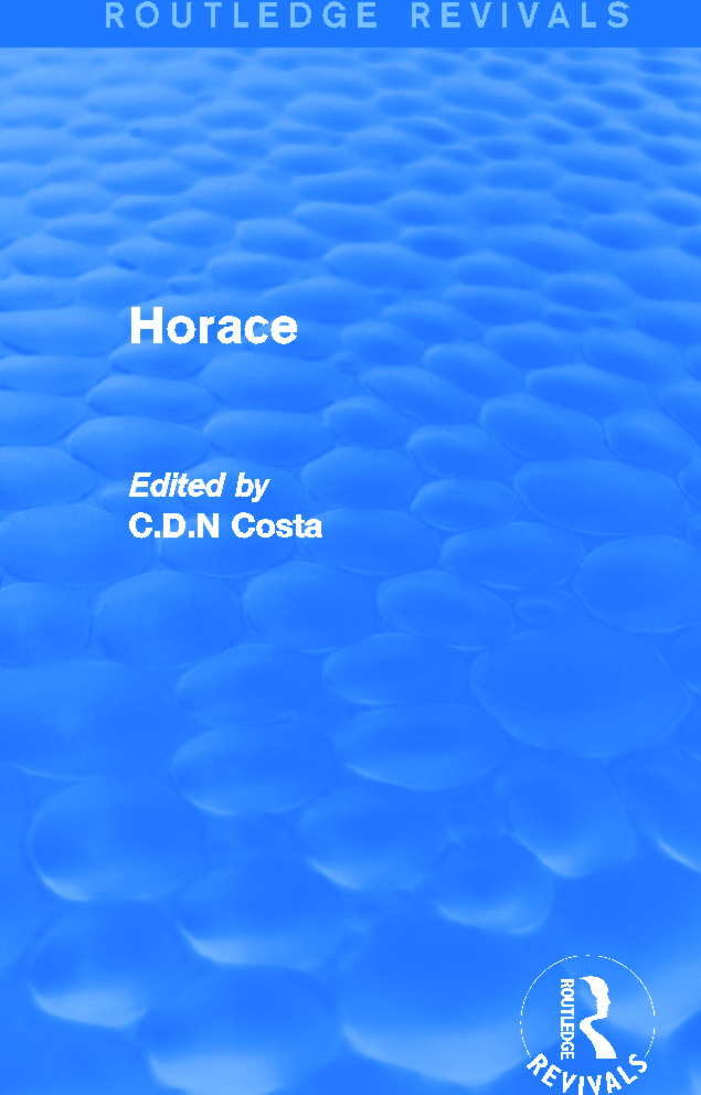 Horace (Routledge Revivals): 1st Edition (Paperback) book cover