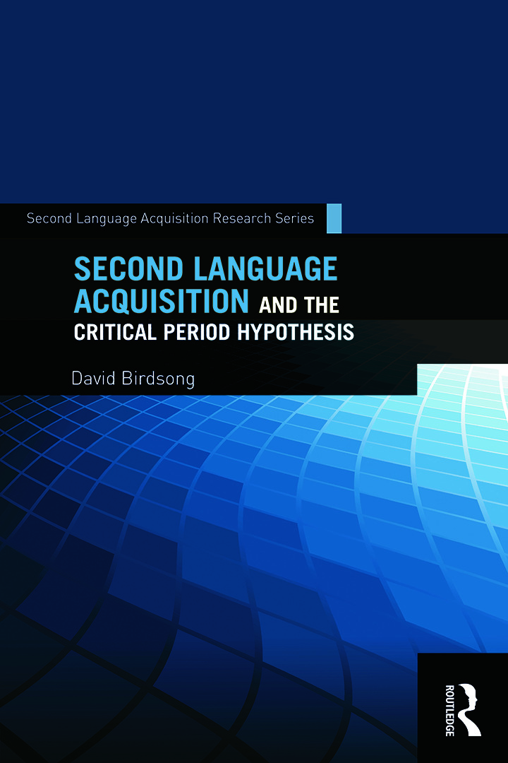 Second Language Acquisition and the Critical Period Hypothesis (Paperback) book cover