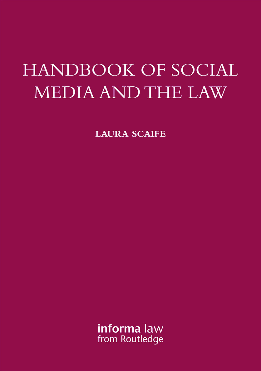 Handbook of Social Media and the Law book cover