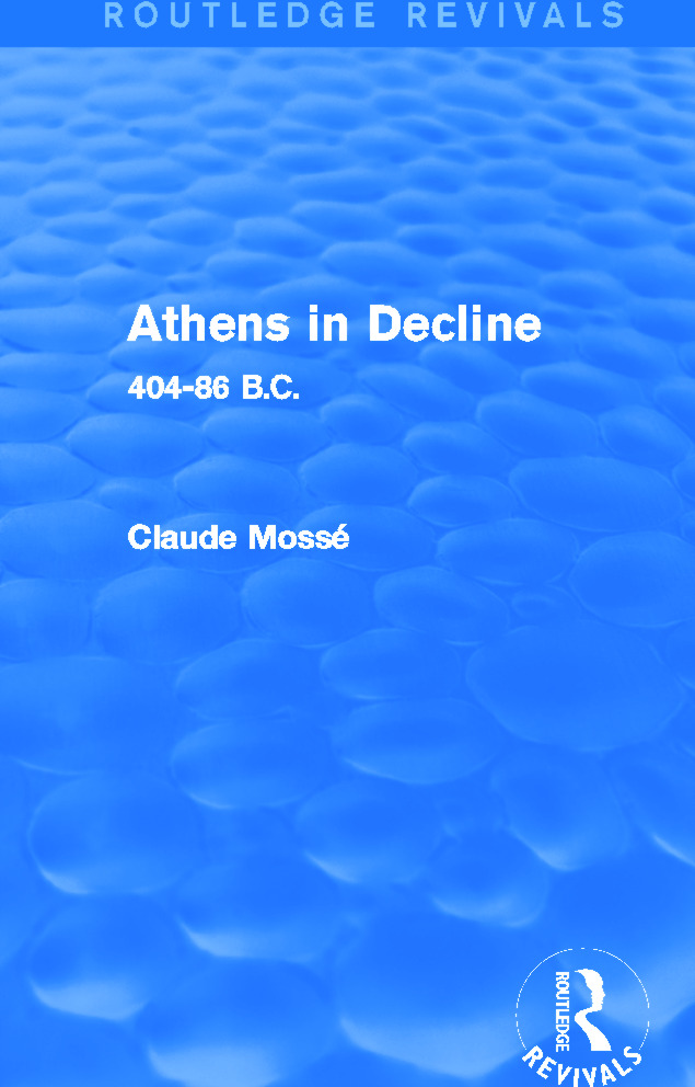 Athens in Decline (Routledge Revivals): 404-86 B.C., 1st Edition (Hardback) book cover