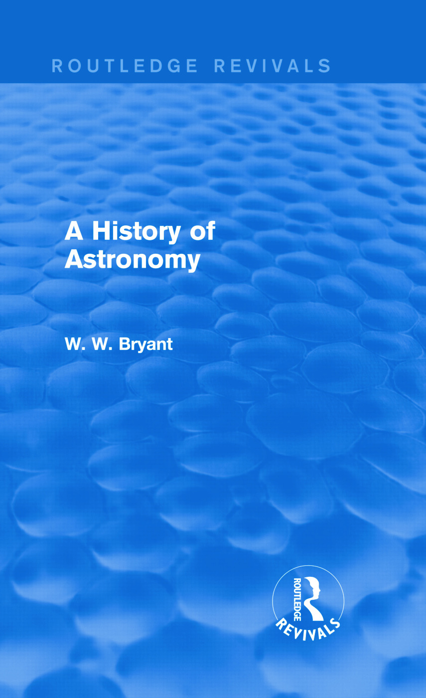 A History of Astronomy (Routledge Revivals): 1st Edition (Hardback) book cover