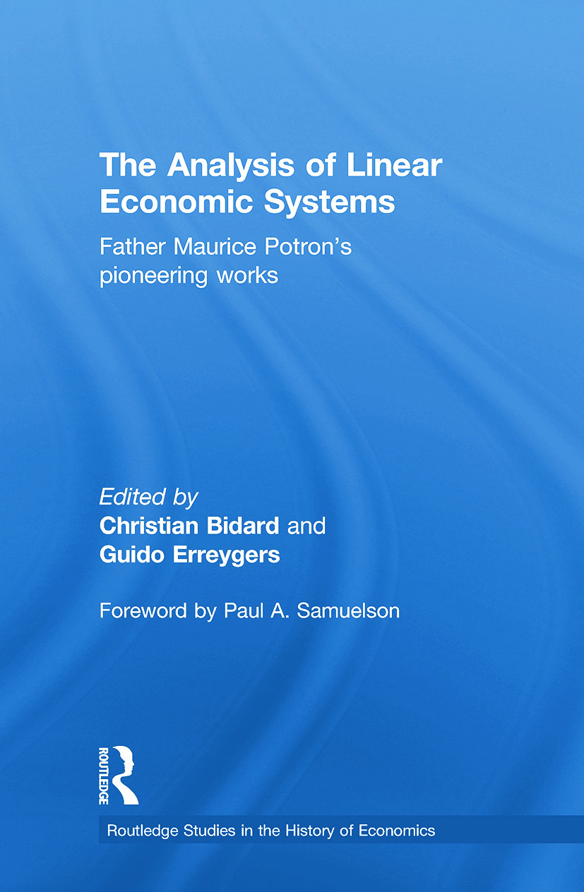 The Analysis of Linear Economic Systems: Father Maurice Potron's Pioneering Works (Paperback) book cover