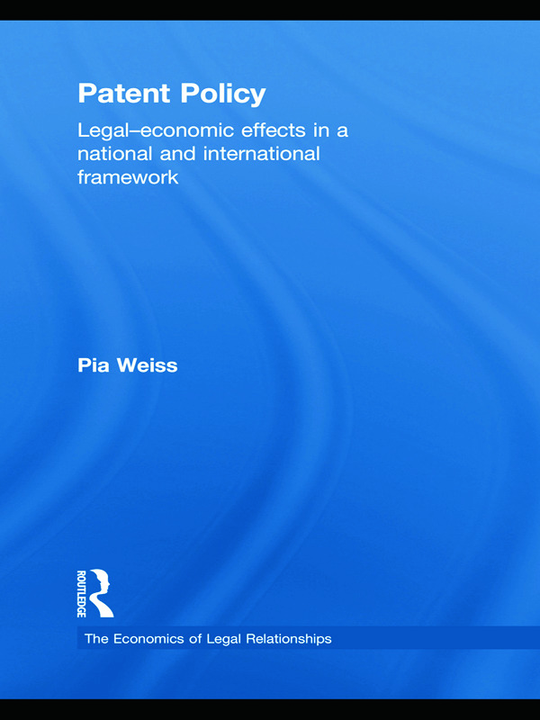 Patent Policy: Legal-Economic Effects in a National and International Framework book cover