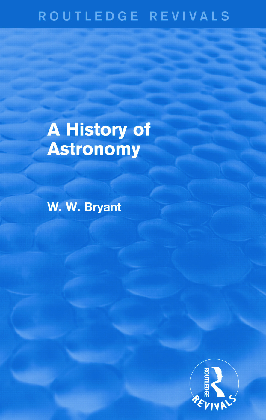 A History of Astronomy (Routledge Revivals): 1st Edition (Paperback) book cover