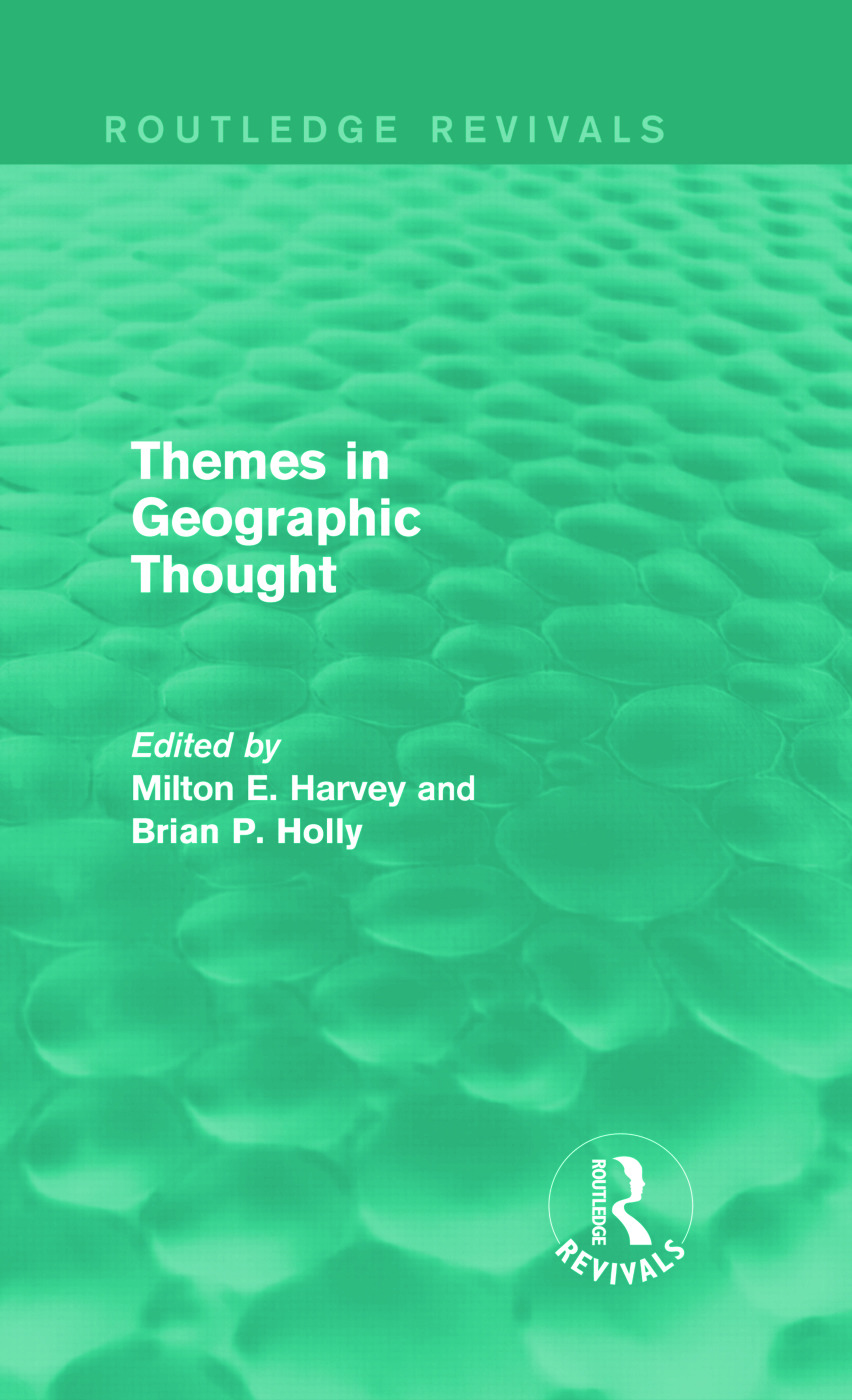 Themes in Geographic Thought (Routledge Revivals): 1st Edition (Hardback) book cover