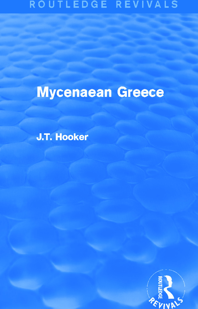 Mycenaean Greece (Routledge Revivals)