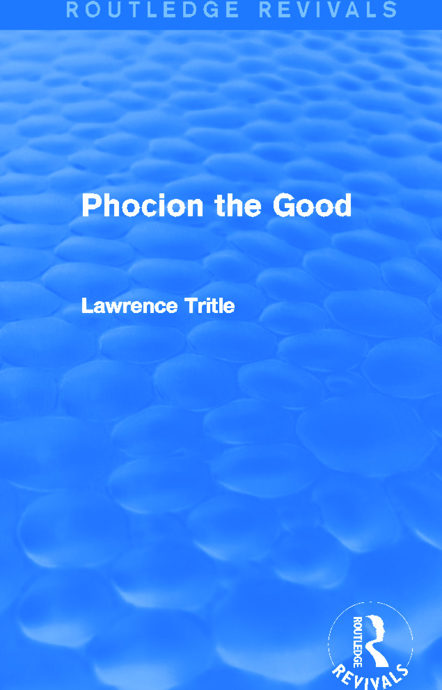 Phocion the Good (Routledge Revivals): 1st Edition (Paperback) book cover