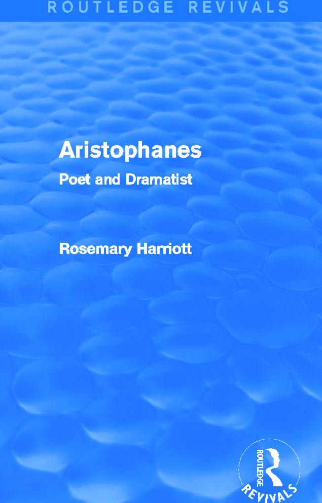 Aristophanes (Routledge Revivals): Poet and Dramatist, 1st Edition (Paperback) book cover