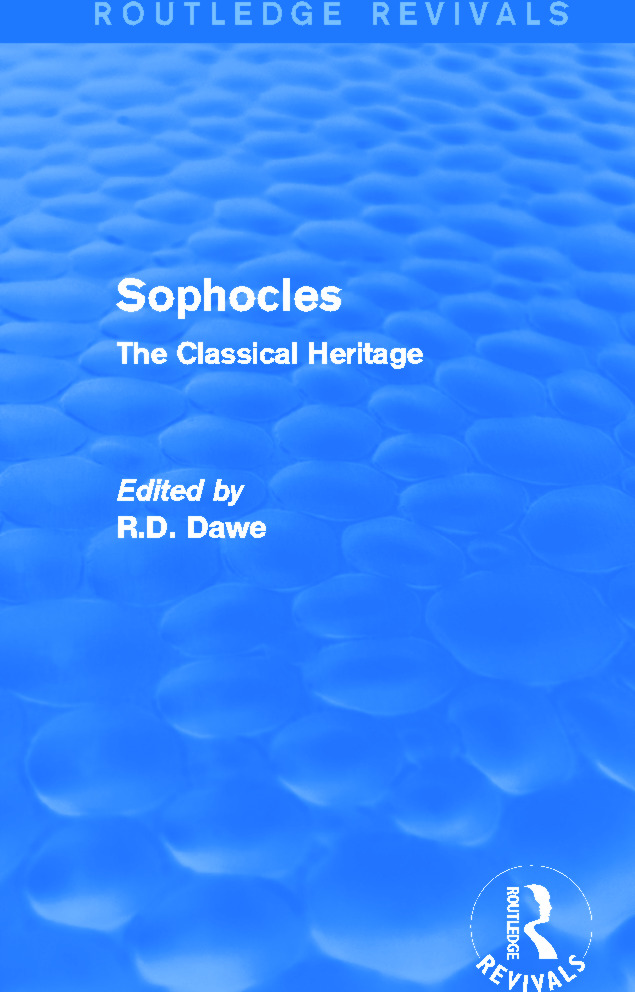 What Lies behind the Notes: The Translations of the Antigone of Sophocles in the 18th Century, Suzanne Said and Christian Biet