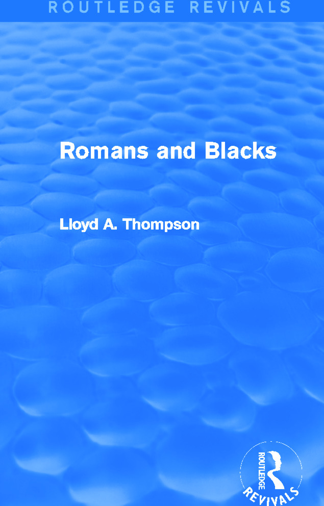 Romans and Blacks (Routledge Revivals): 1st Edition (Paperback) book cover